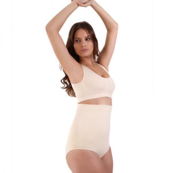 Culotte taille haute ventre plat culotte sculptante sans couture femme