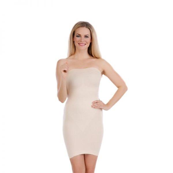 Fond de robe gainant sans bretelles sculptant grande taille