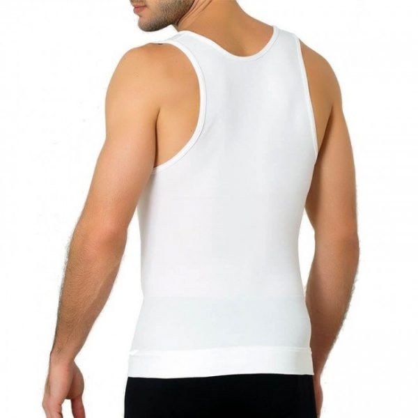 T Shirt Compression Minceur Sculptant Homme blanc