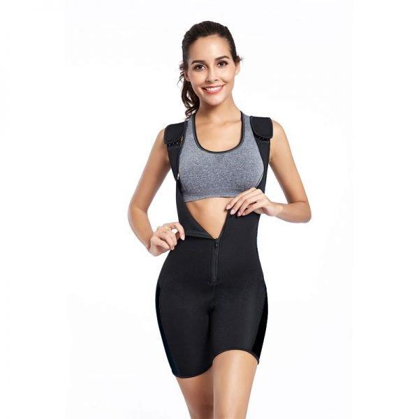 Combinaison de survêtement de compression en néoprène Body Sauna Suit Femmes Sports Fitness