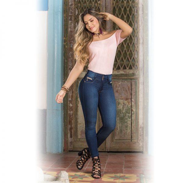 push up jeans figuurcorrigerende spijkerbroek dames 1